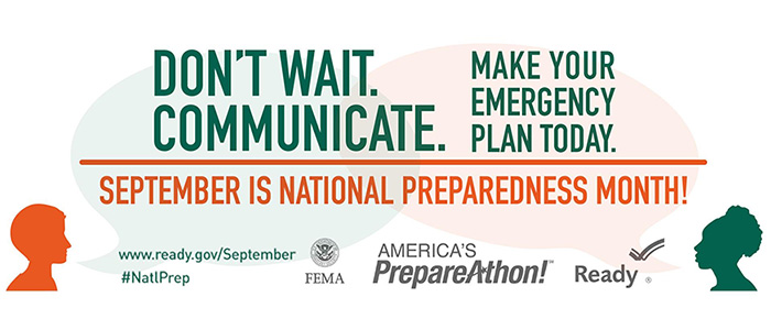 National PrepareAthon! Day - Don't Wait. Communicate. Make Your Emergency Plan Today!