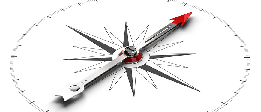 Drawing of a compass
