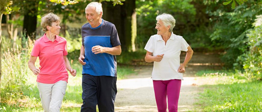 Seniors out walking