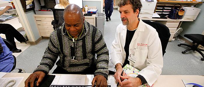 CVMC physician Javad Mashkuri and WCMHS Emergency Services Coordinator Gary Gordon