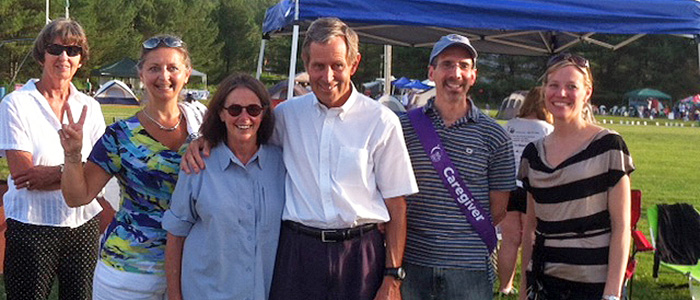Dr. Valentine and his collegues at the Relay for Life in 2012
