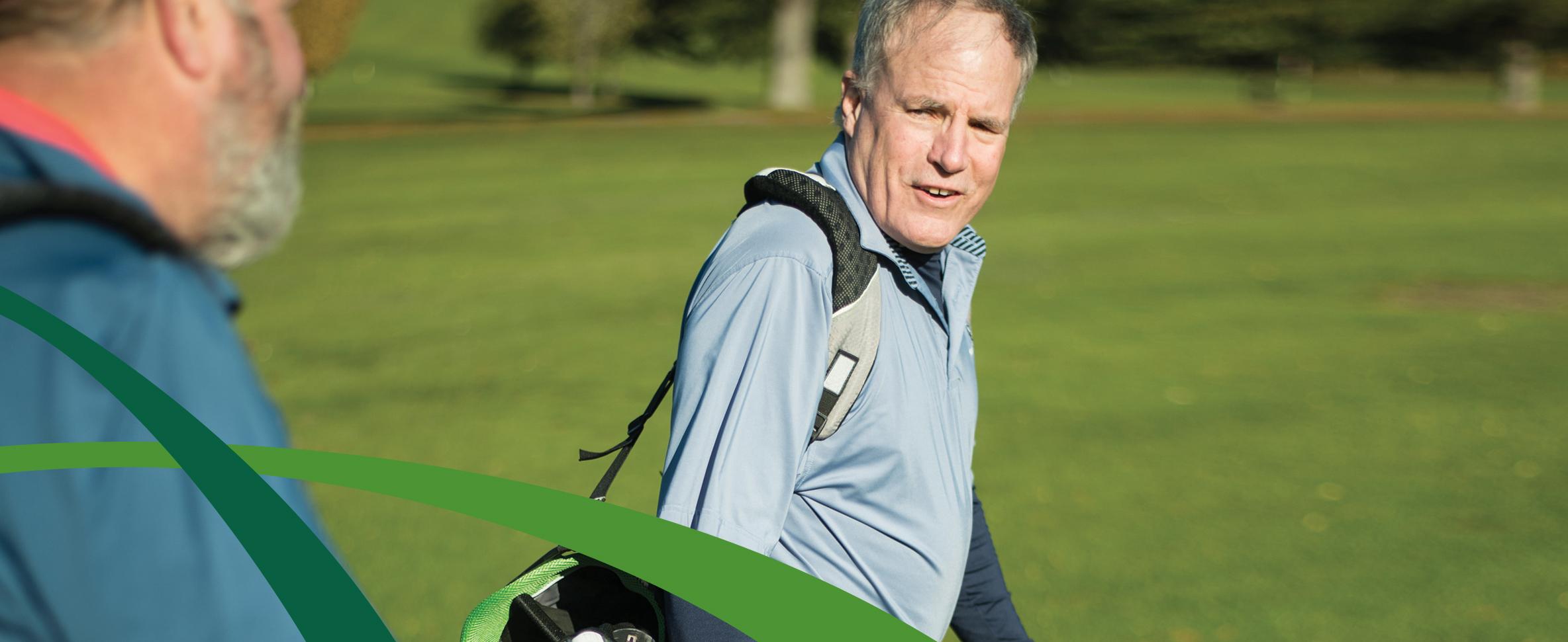 Christopher M. Meriam, MD, CVMC Orthopedic Surgeon, playing golf