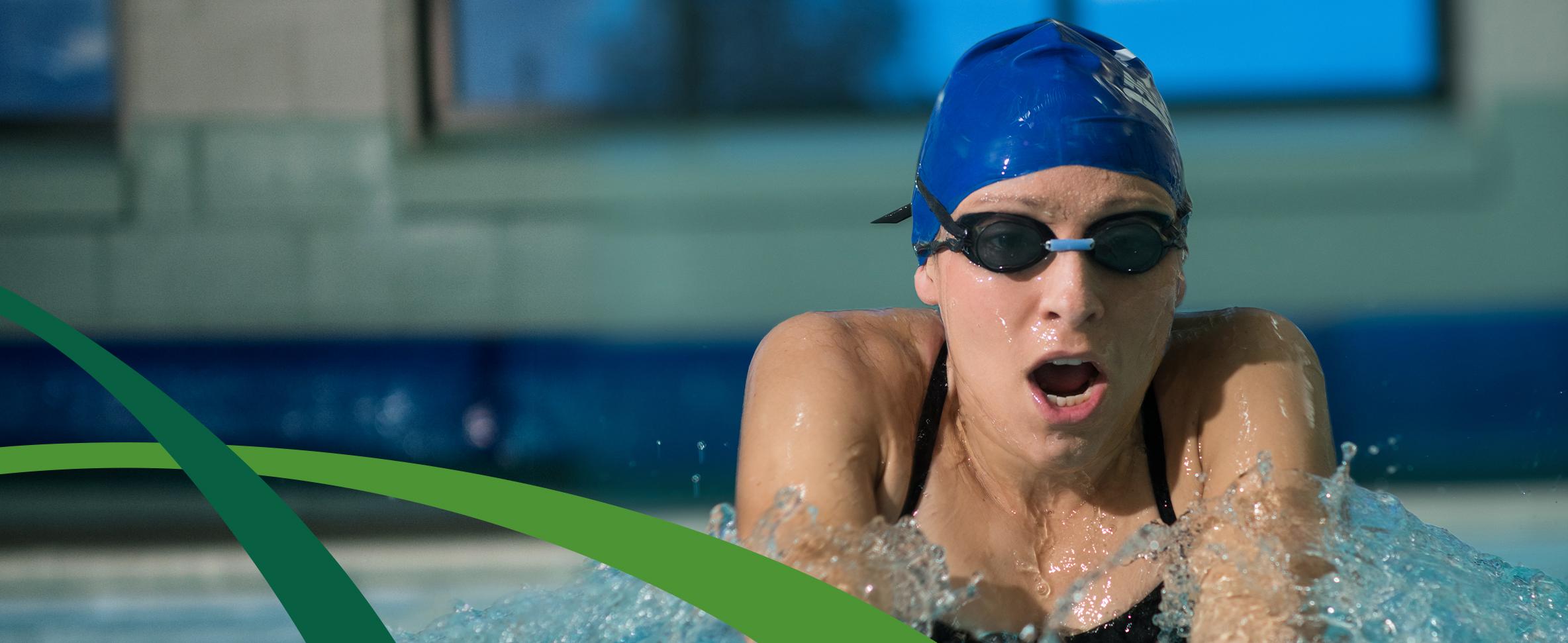 Alison M. Migonis, DPM, CVMC Podiatrist, swimming