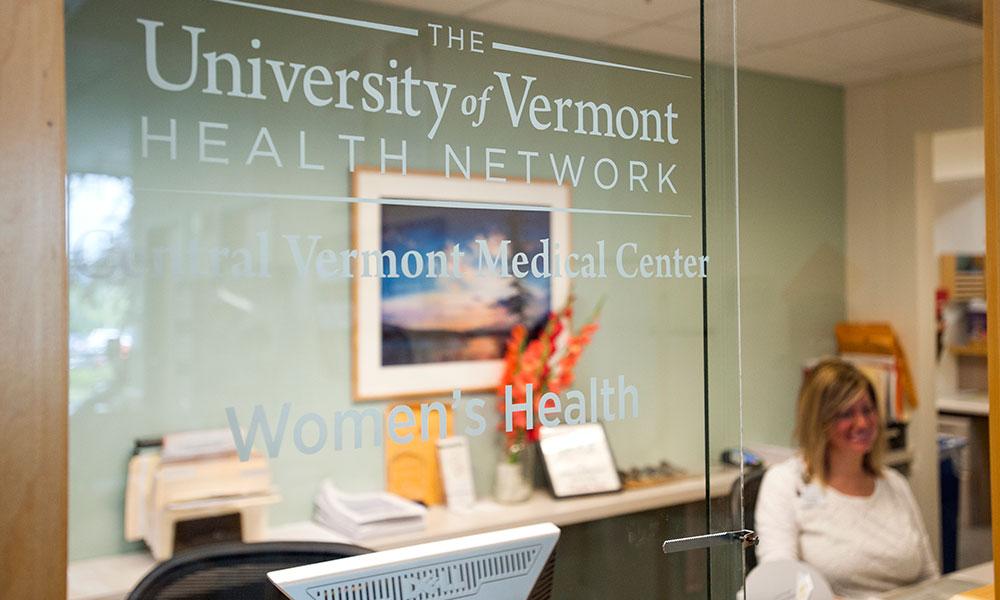 Reception area of CVMC Women's Health Practice