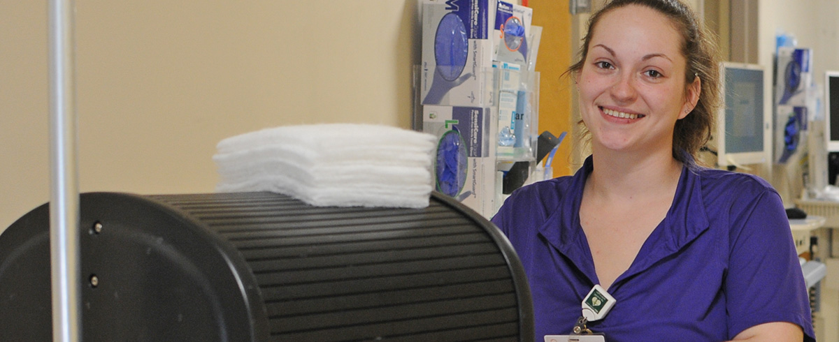 CVMC Environmental Technician Shayna Lucey