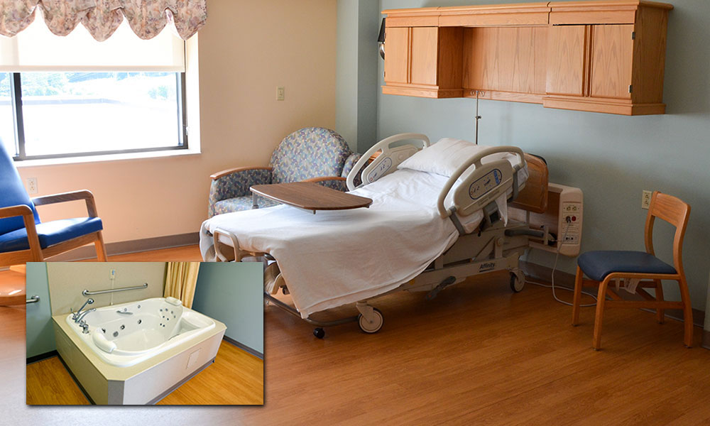 Private rooms at CVMC Birthing Center