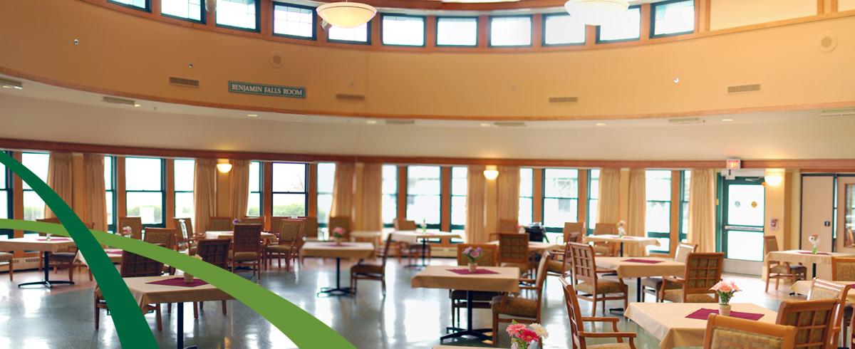 Benjamin Falls dining room at Woodridge