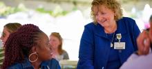 Inpatient Psychiatric Nurse Mary Riby-Williams and CVMC President Anna Tempesta Noonan