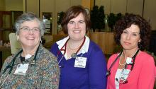 Barbara Grothe-Penney, APRN; Jessica MacLeod, MSN, BSN, BA; and Amy Brewer, ANP-BC