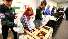 CVMC Employees Helping Out at Vermont Foodbank's Mobile Food Shelf