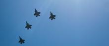 Green Mountain Boys fly over CVMC. Photo by Alison White.